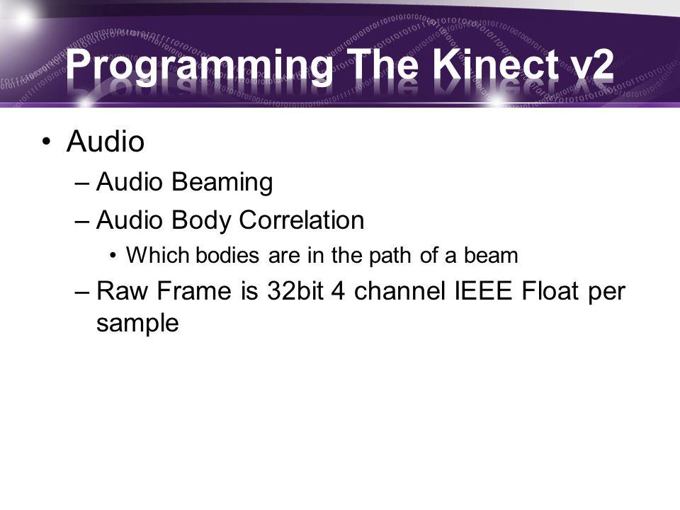 Programming The Kinect v2