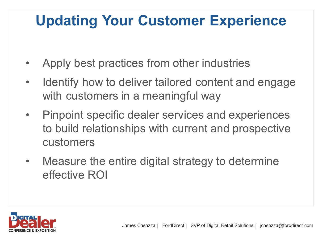 Updating Your Customer Experience