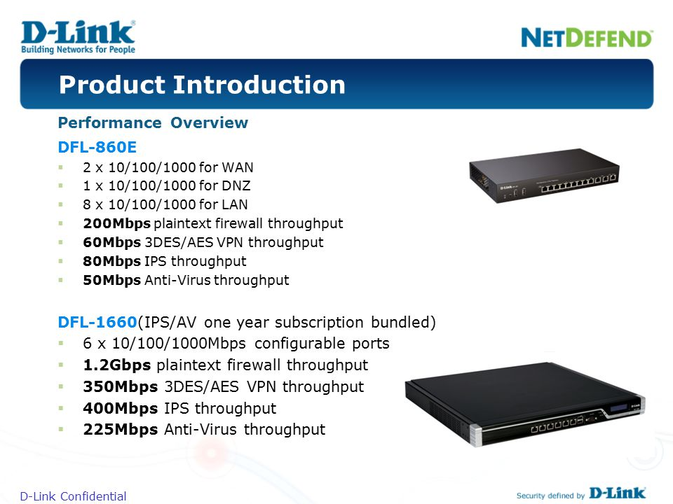 Product Introduction Performance Overview DFL-860E