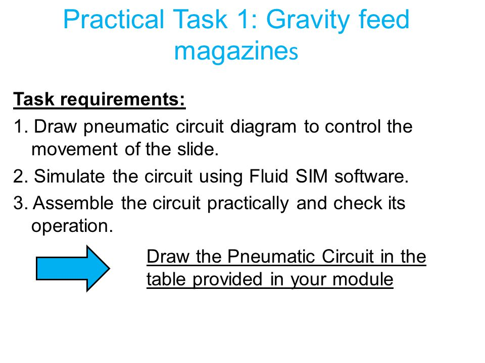 Practical Task 1: Gravity feed magazines