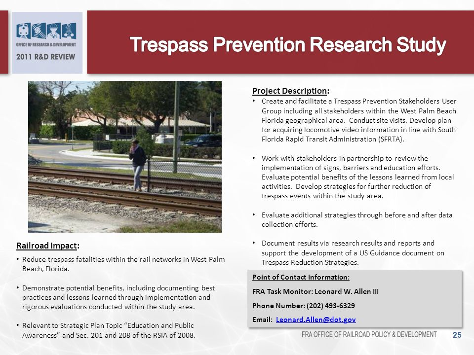 Trespass Prevention Research Study