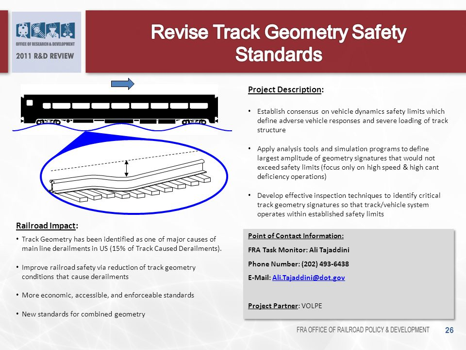 Revise Track Geometry Safety Standards