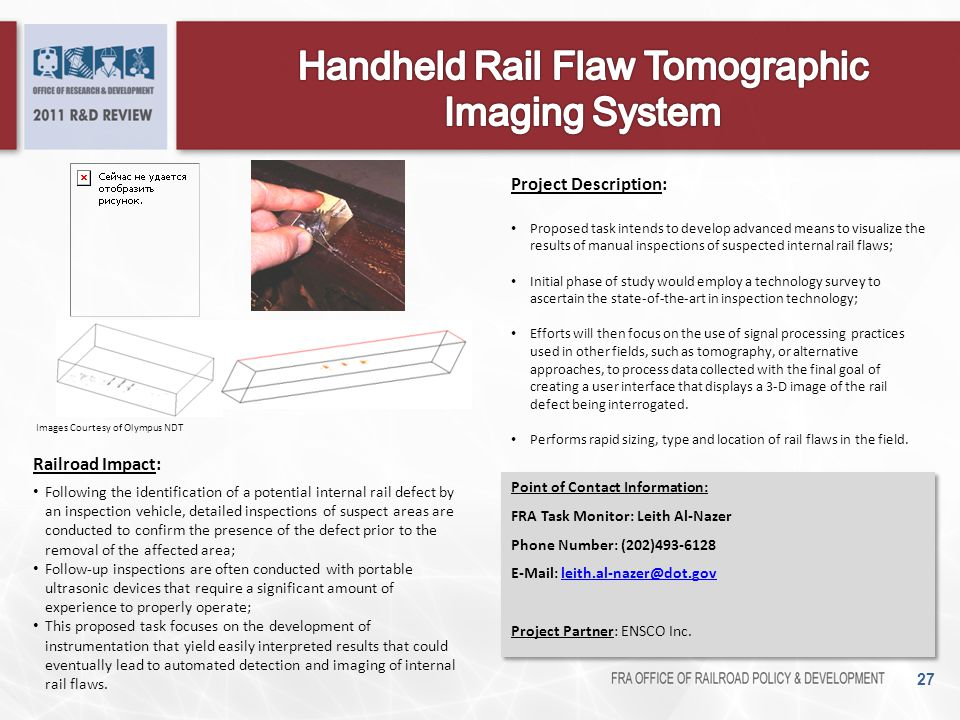 Handheld Rail Flaw Tomographic Imaging System