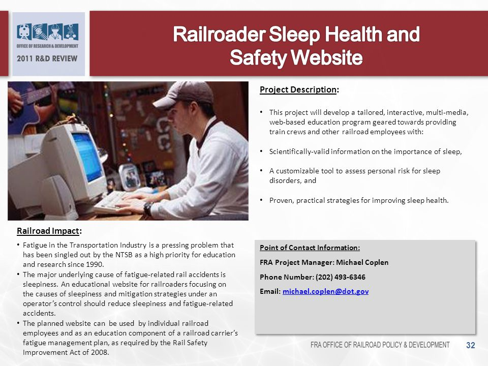 Railroader Sleep Health and Safety Website
