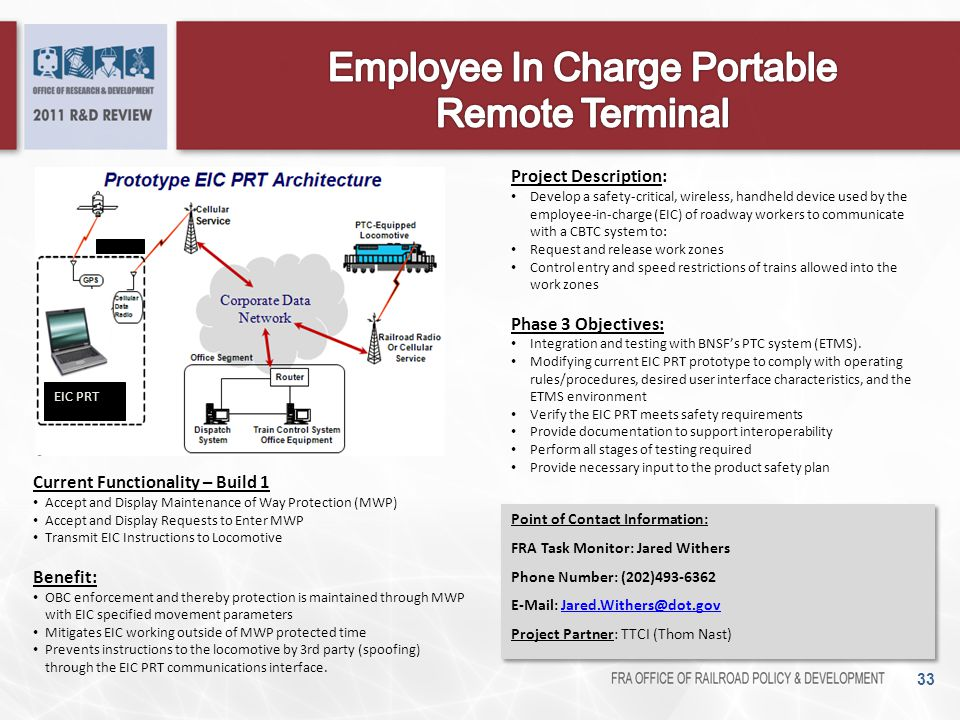 Employee In Charge Portable Remote Terminal
