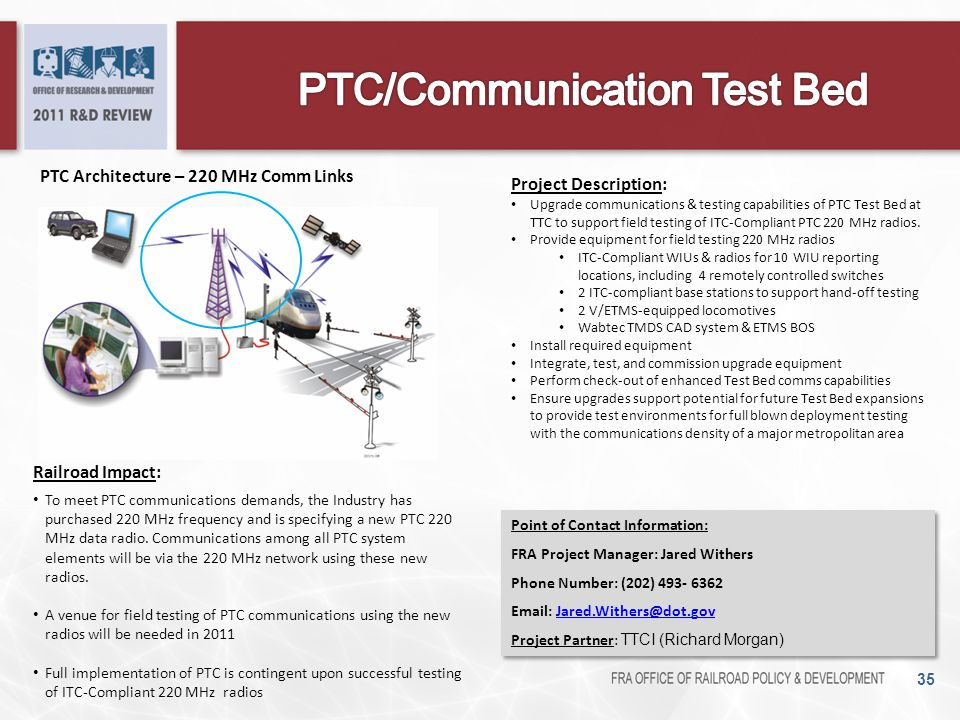PTC/Communication Test Bed