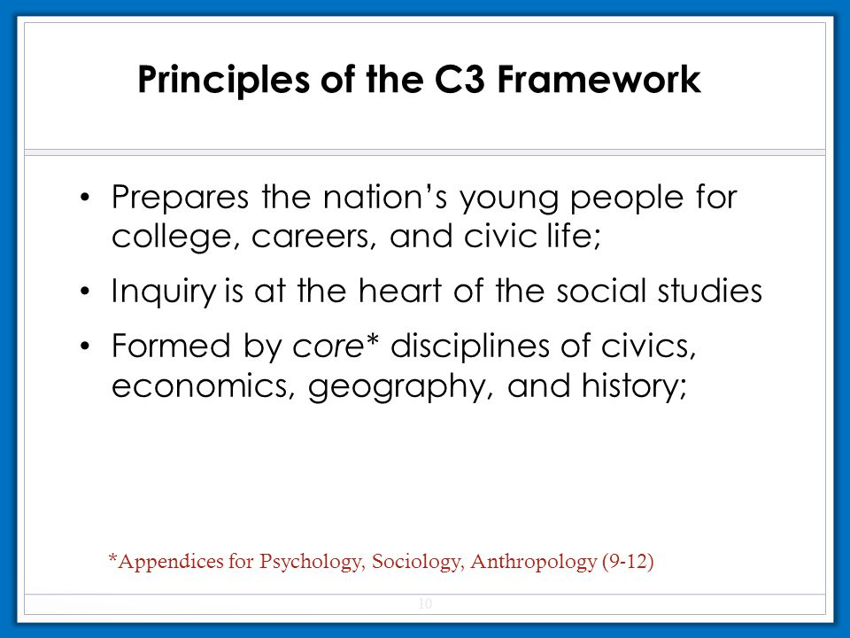 Principles of the C3 Framework