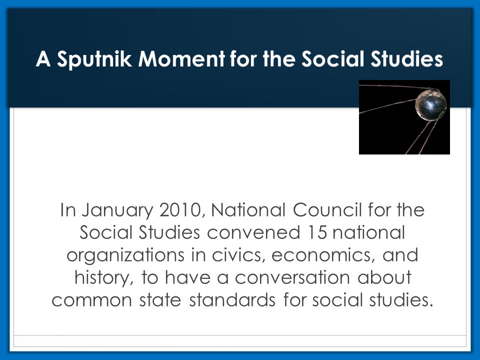 A Sputnik Moment for the Social Studies