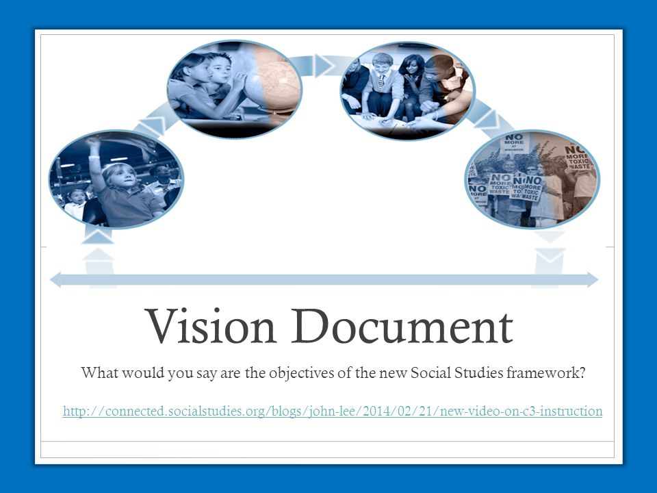 Vision Document What would you say are the objectives of the new Social Studies framework