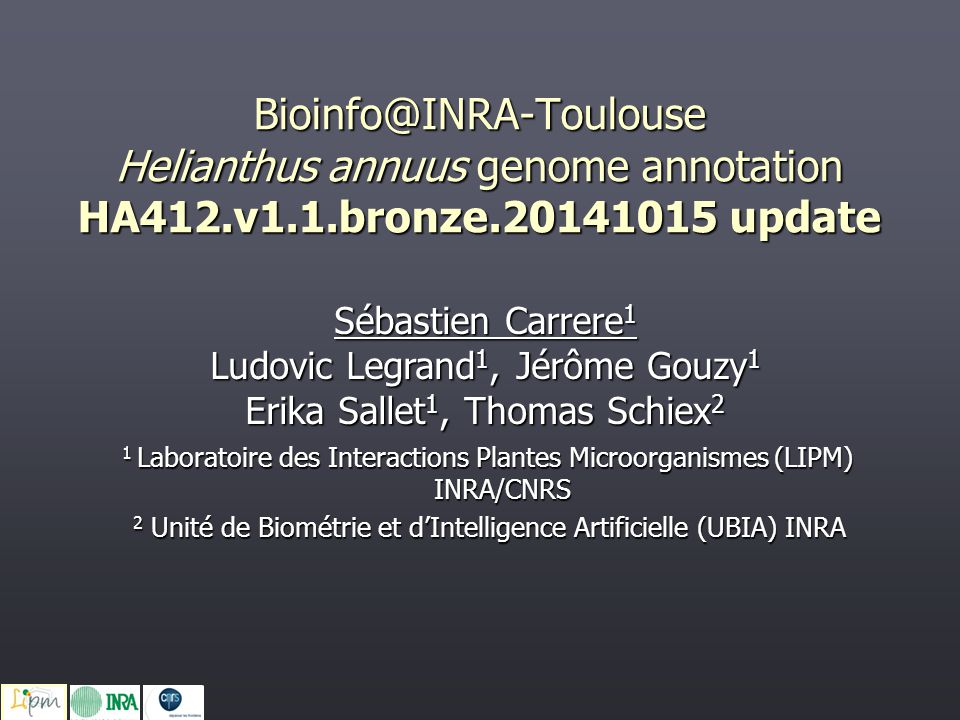 2 Unité de Biométrie et d'Intelligence Artificielle (UBIA) INRA