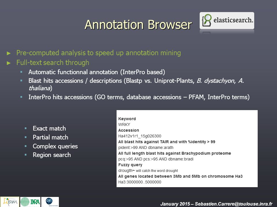 Annotation Browser Pre-computed analysis to speed up annotation mining