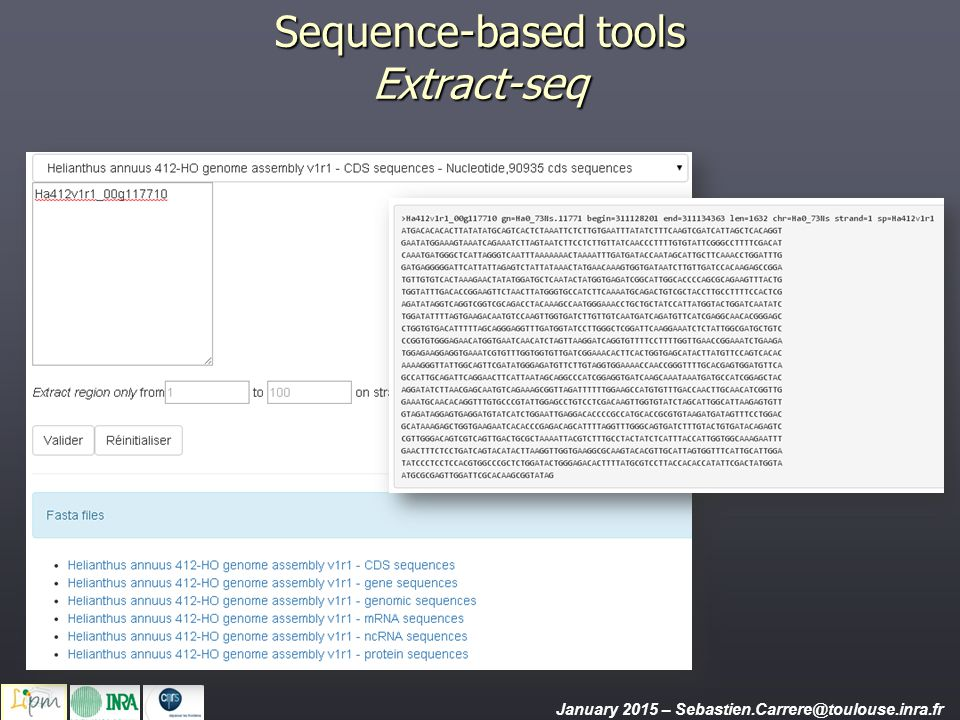 Sequence-based tools Extract-seq