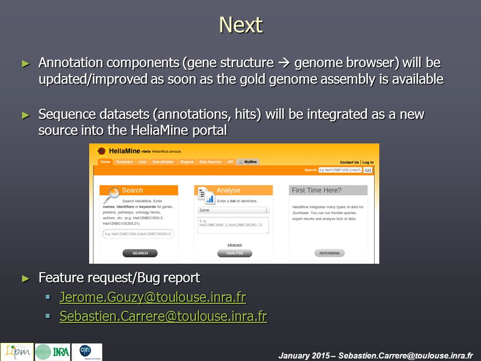 Next Annotation components (gene structure  genome browser) will be updated/improved as soon as the gold genome assembly is available.