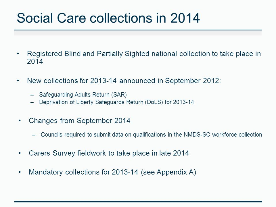 Social Care collections in 2014