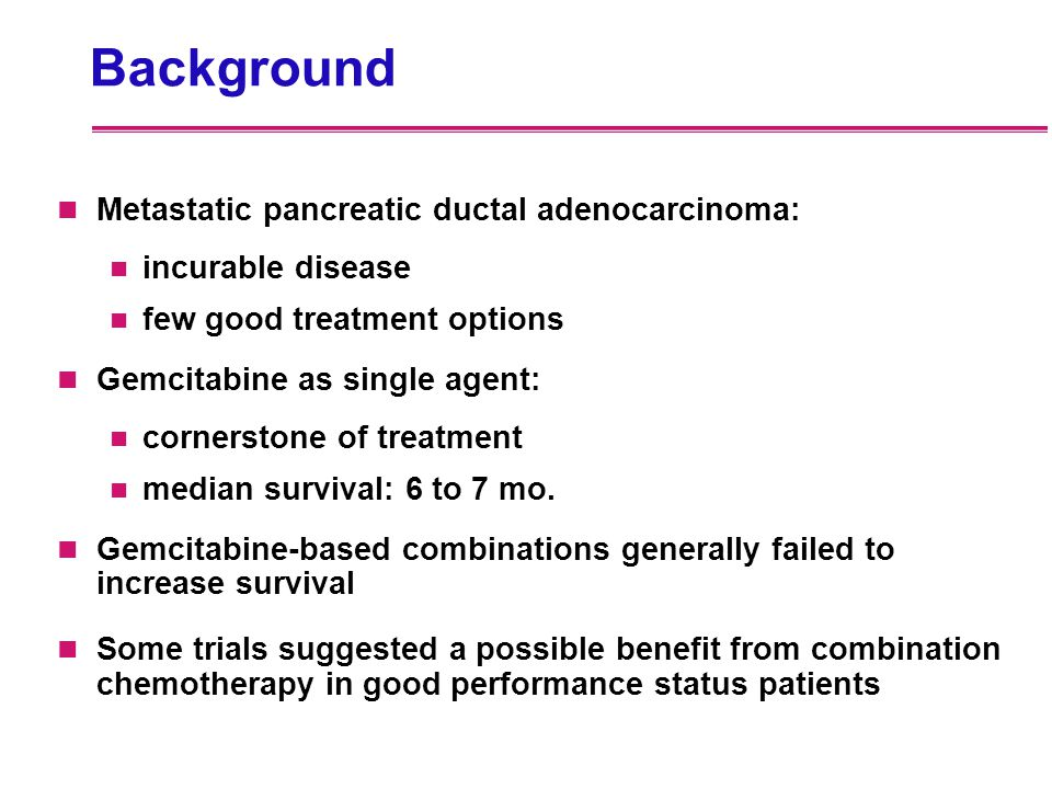 Background Metastatic pancreatic ductal adenocarcinoma: