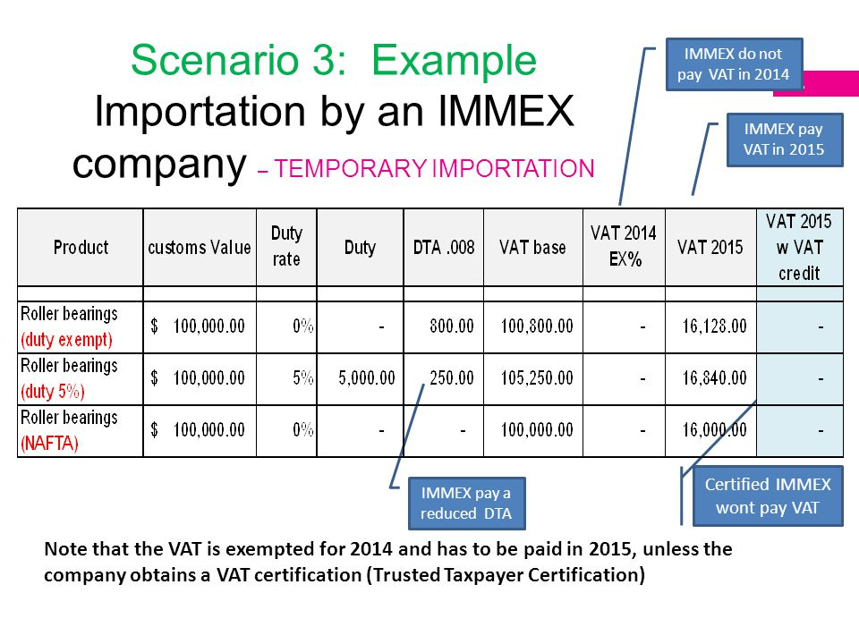 Certified IMMEX wont pay VAT