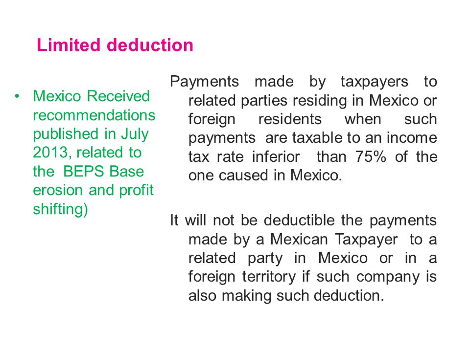 Limited deduction