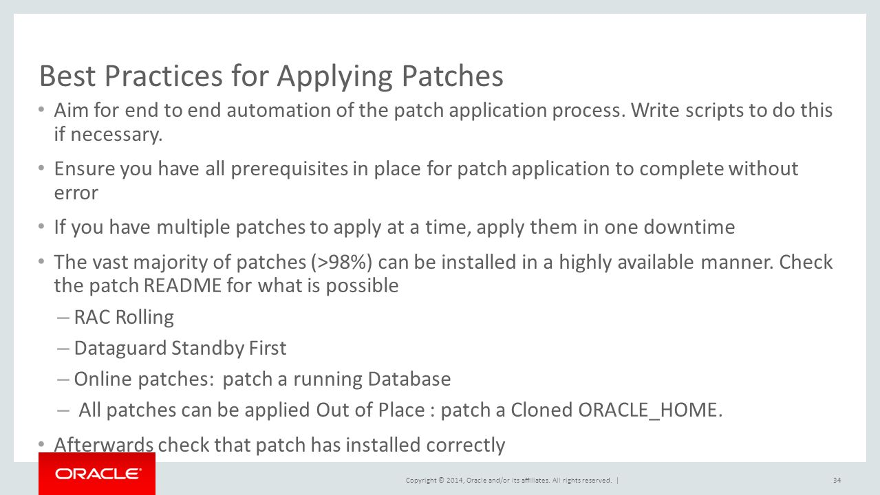 Best Practices for Applying Patches