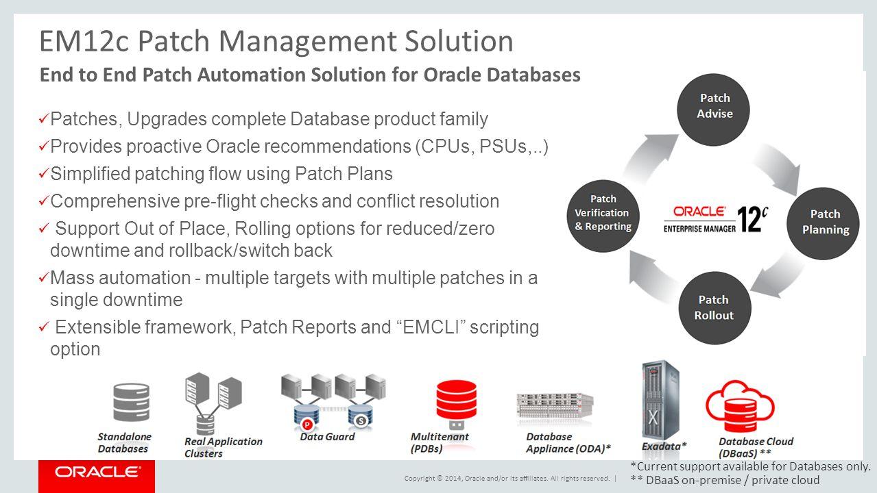 EM12c Patch Management Solution