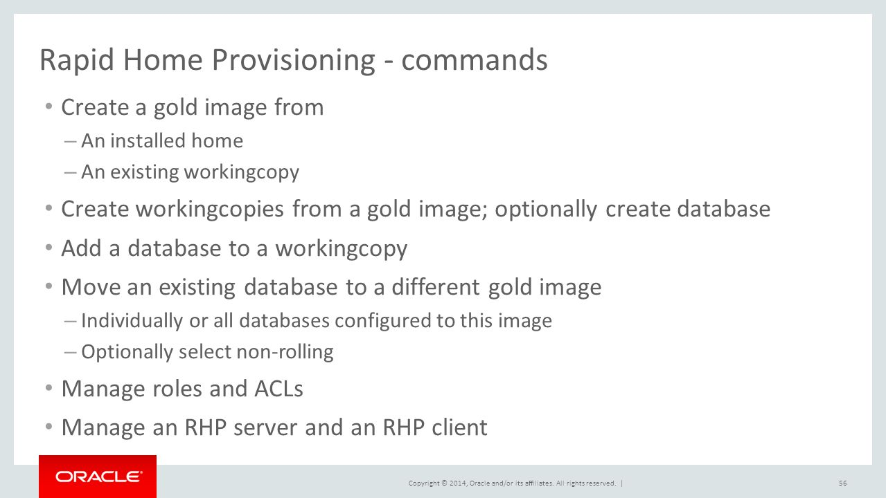 Rapid Home Provisioning - commands