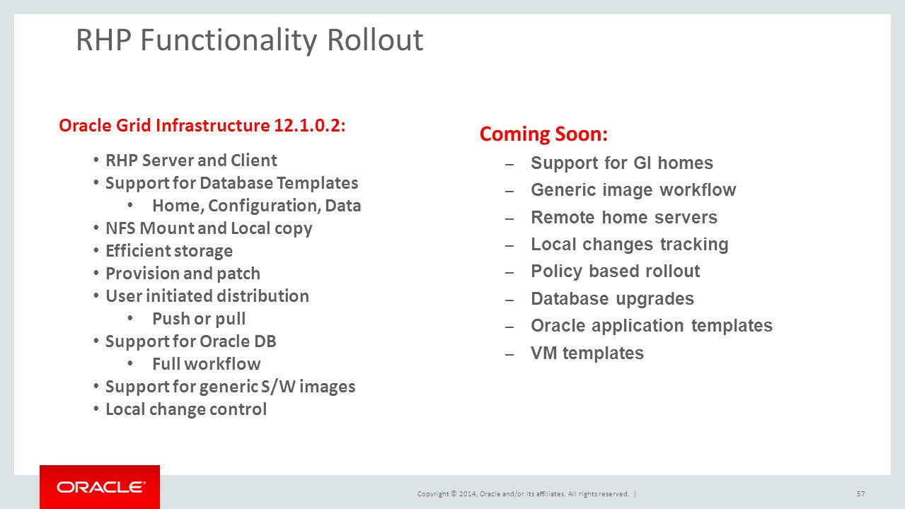RHP Functionality Rollout