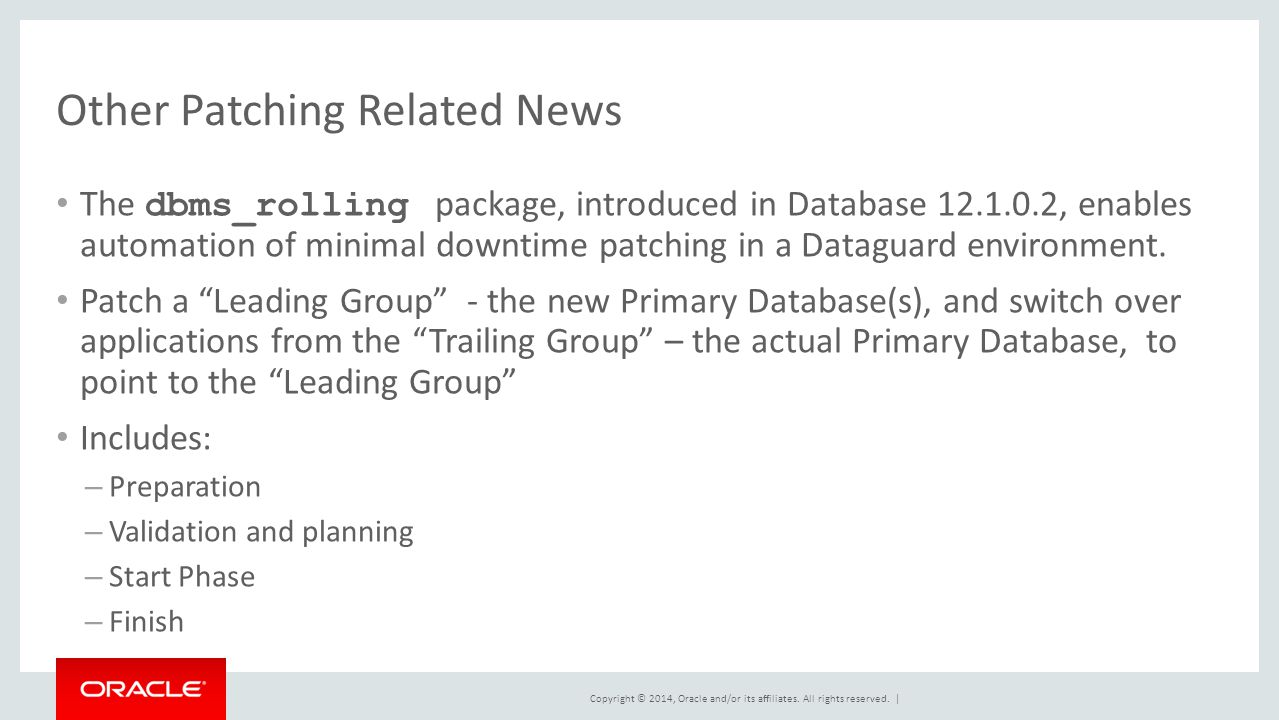 Other Patching Related News