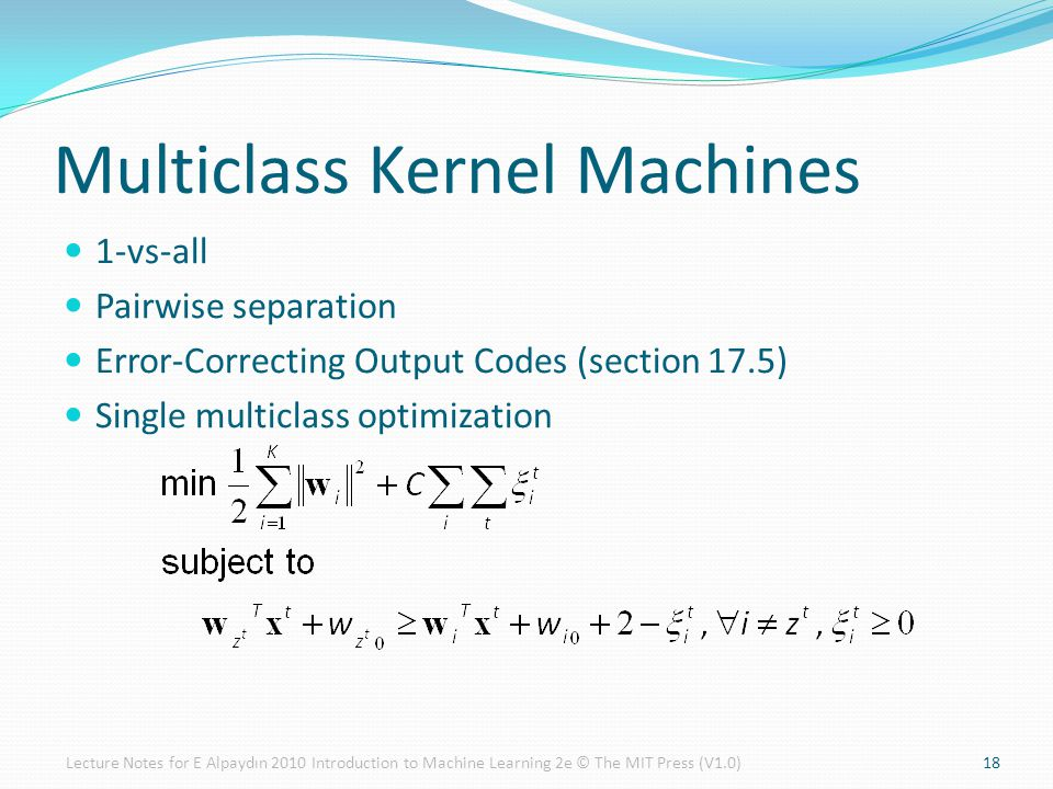 Multiclass Kernel Machines