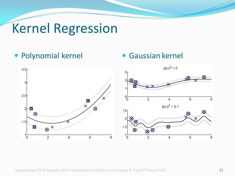 Kernel Regression Polynomial kernel Gaussian kernel