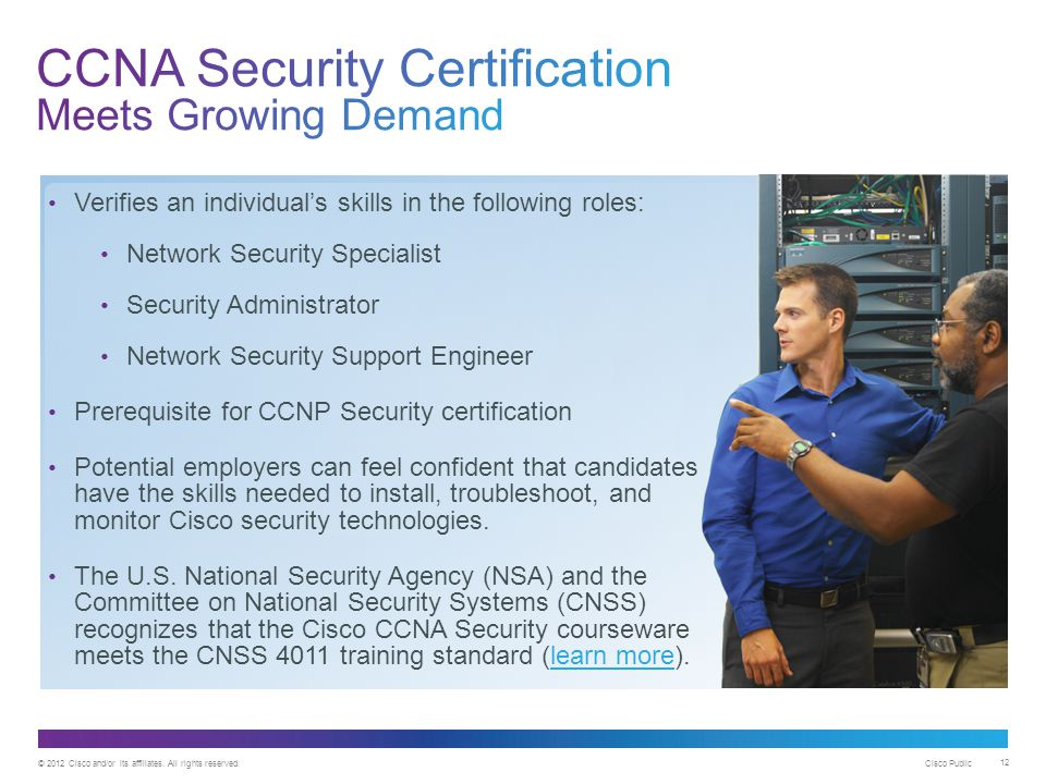 CCNA Security Certification Meets Growing Demand