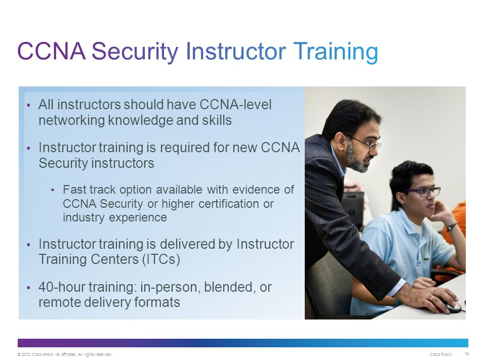 CCNA Security Instructor Training
