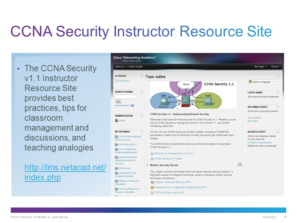 CCNA Security Instructor Resource Site