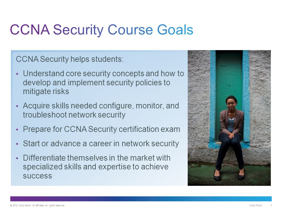 CCNA Security Course Goals