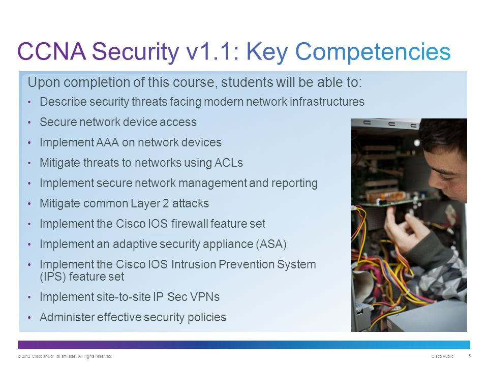 CCNA Security v1.1: Key Competencies