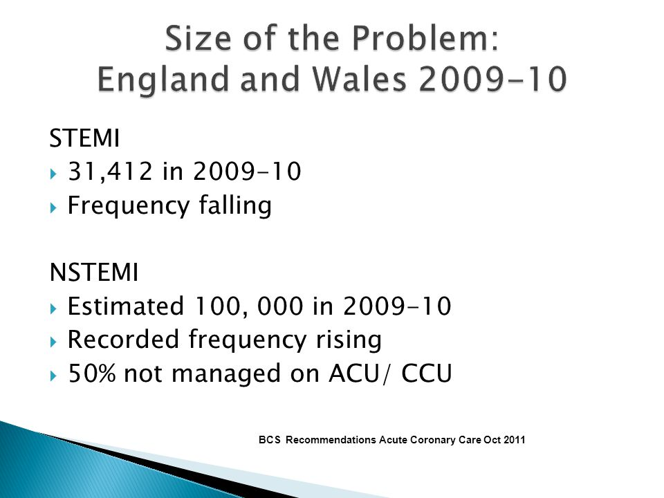 Size of the Problem: England and Wales 2009-10