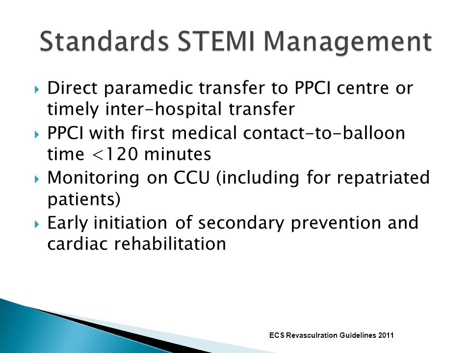Standards STEMI Management