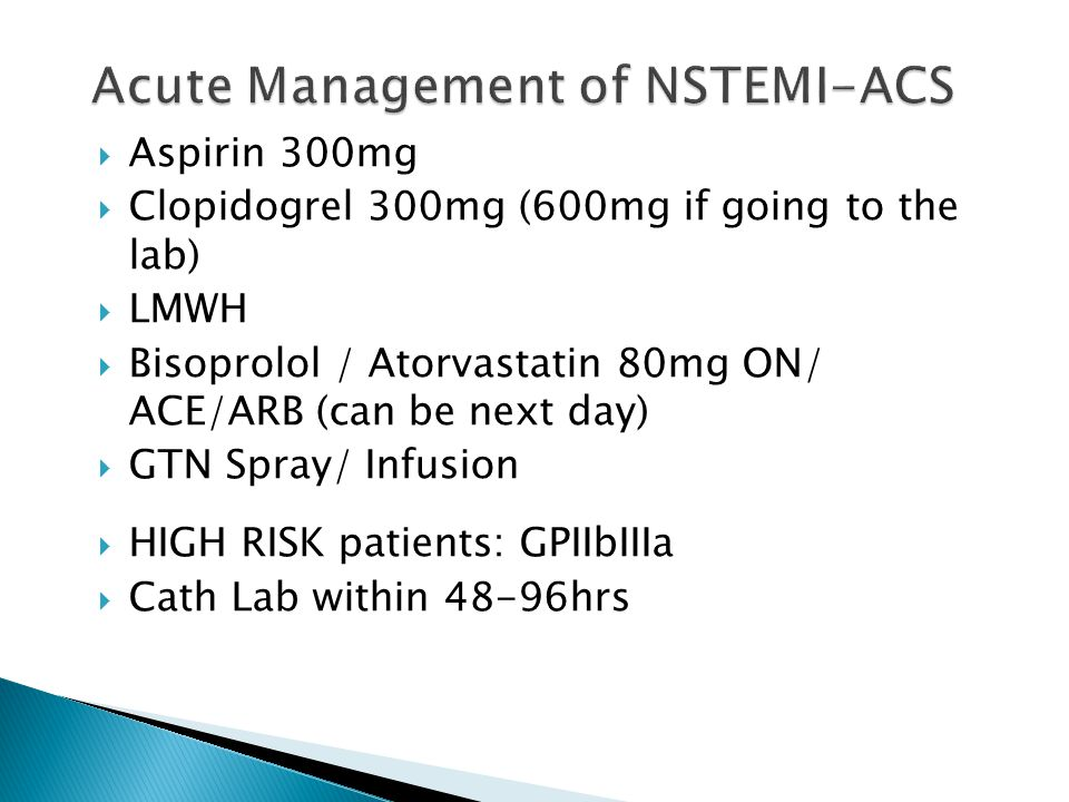 Acute Management of NSTEMI-ACS