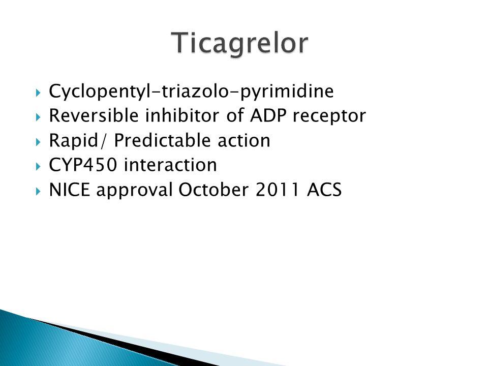 Ticagrelor Cyclopentyl-triazolo-pyrimidine