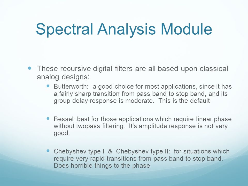 Spectral Analysis Module