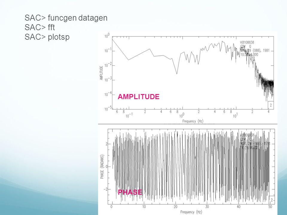 SAC> funcgen datagen SAC> fft SAC> plotsp