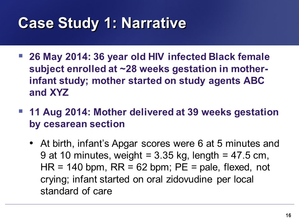 Case Study 1: Narrative