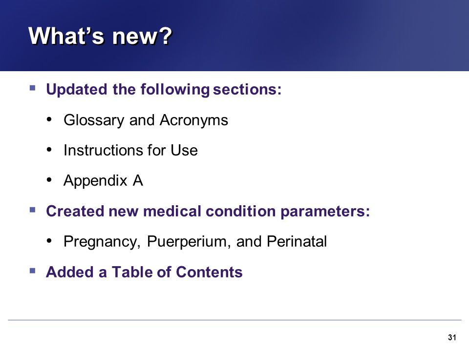 What's new Updated the following sections: Glossary and Acronyms