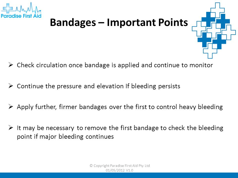 Bandages – Important Points
