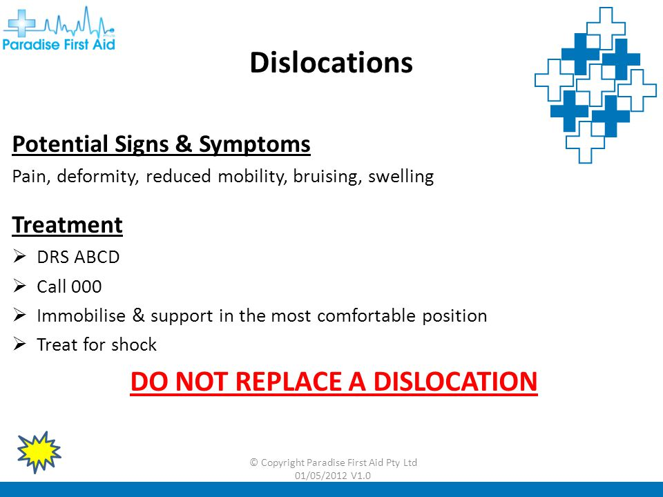 DO NOT REPLACE A DISLOCATION