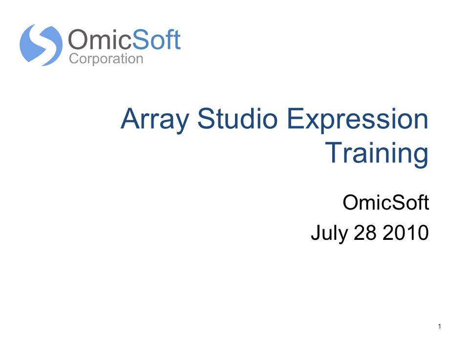 Array Studio Expression Training