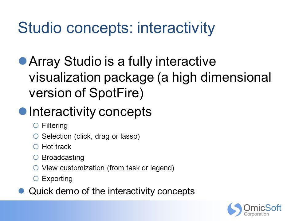 Studio concepts: interactivity