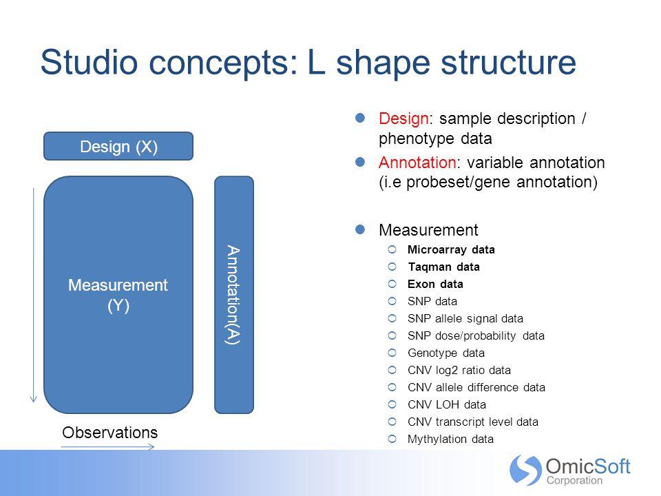 Studio concepts: L shape structure