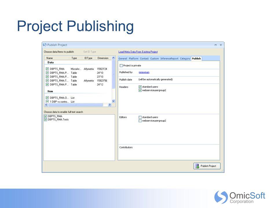 Project Publishing