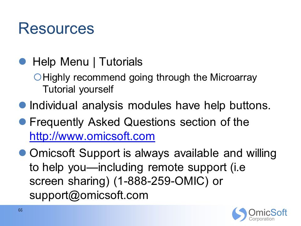 Resources Help Menu | Tutorials