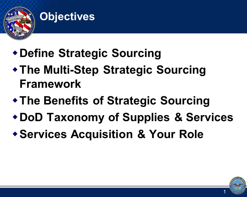 Strategic Sourcing is Defined as: