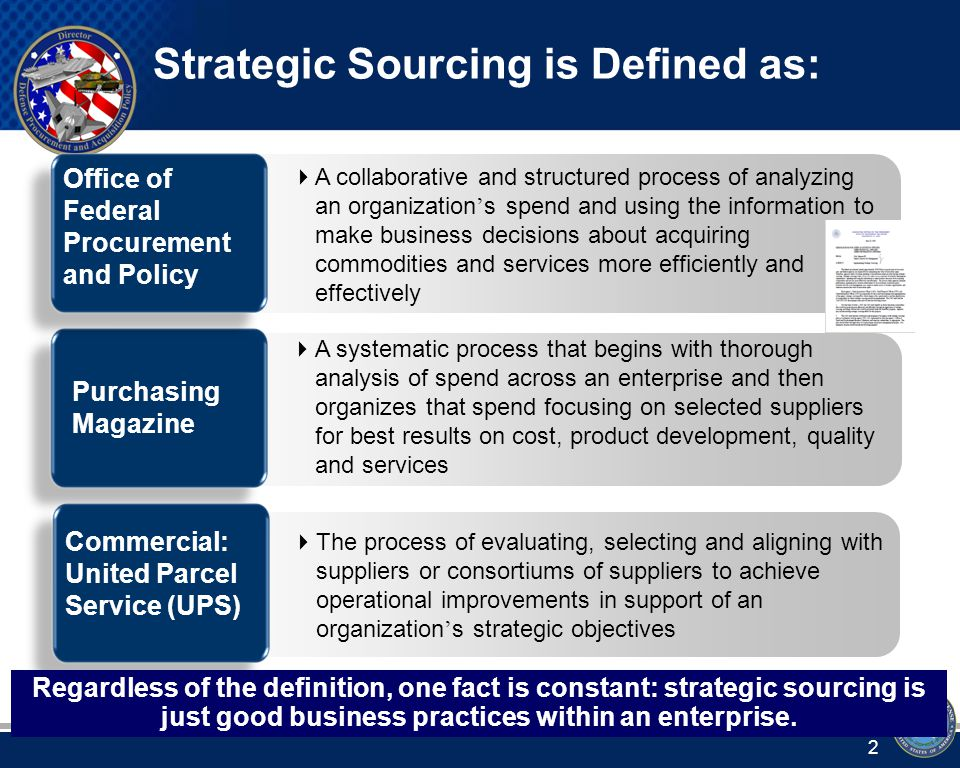 Strategic Sourcing Definition